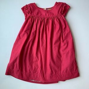 Mini Boden 4-5 Pink Corduroy Dress